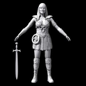 princess warrior xena c4d