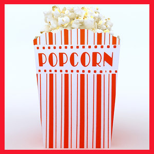 3ds max def popcon box popcorn