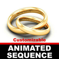 wedding rings sequence animated ring