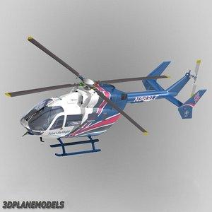 eurocopter ec 145 helicopter 3d model