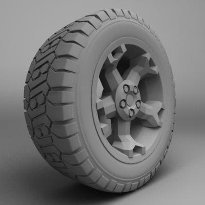 3d toyota rsc wheel