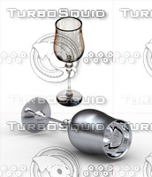 3d antique wine glass