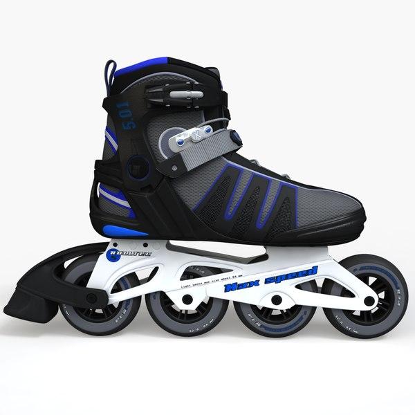 rollerblades roller 3d max