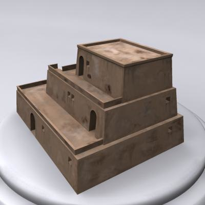 3d model ancient egyptian building stone