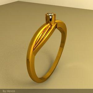 lena gold ring 3dm