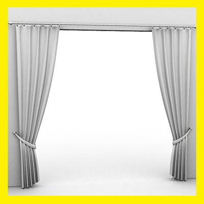 curtains 3d obj