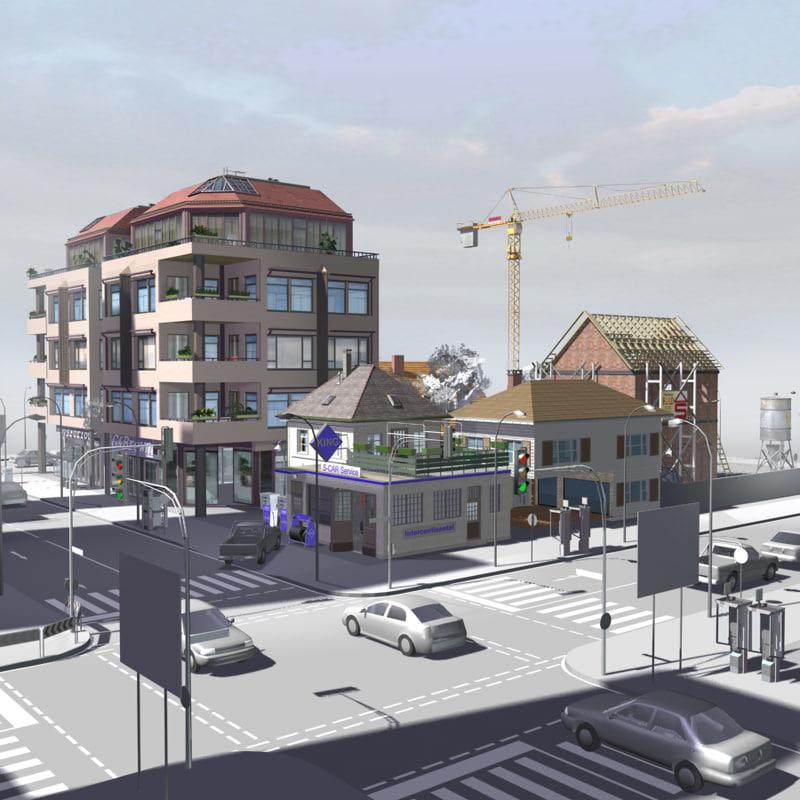 max urban block buildings construction
