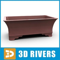 free 3ds mode bonsai planter flowerpot