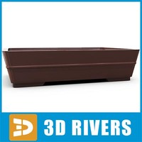 free bonsai planter flowerpot 3d model