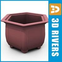 3ds max bonsai planter flowerpot