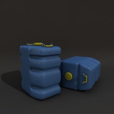 maya plastic barrel