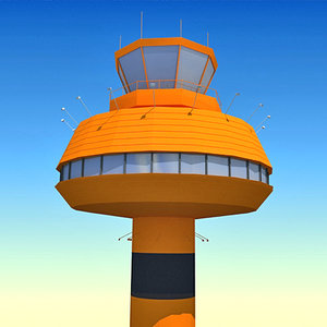 3d model airport control tower