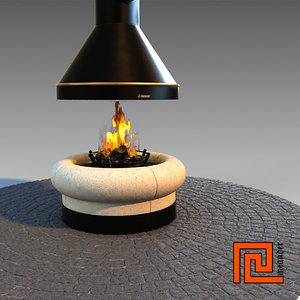 fireplace zeus 3d model