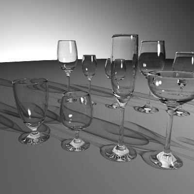 set glasses 3d model