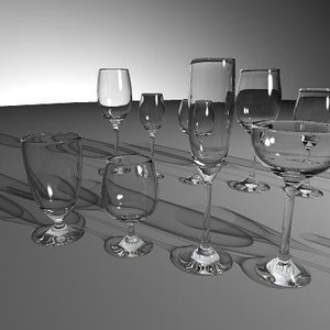 set glasses 3d model