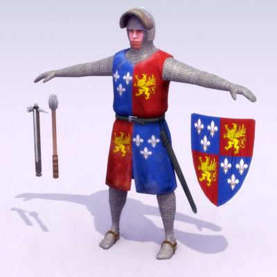 feudal knight games medieval 3d max