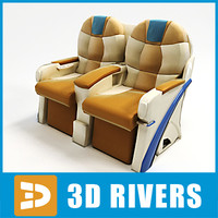 3d airplane business class seats model