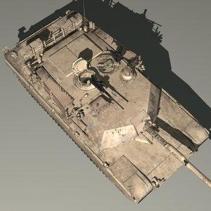 3d model m1a1 abrams battle tank
