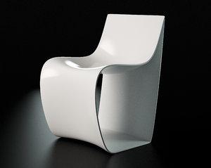 mdf italia sign chair 3d model