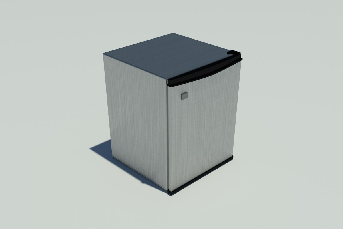 3d stainless steel mini refrigerator