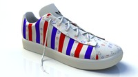 3d model stars stripes trainers