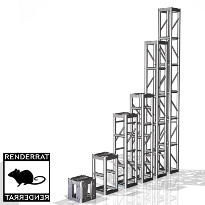 3d model of box truss