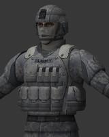 3d model combat solder