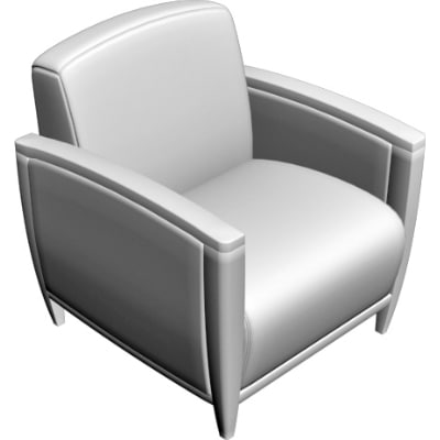 3d obj armchair