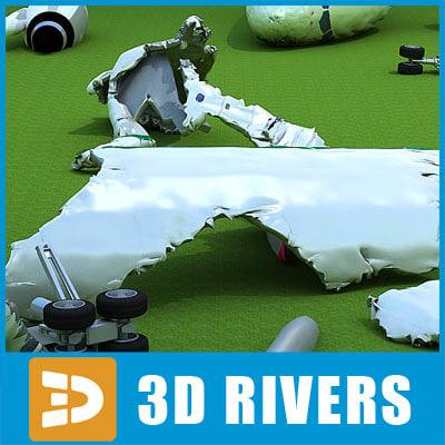 3d model crashed plane