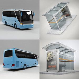 maya modern bus stop