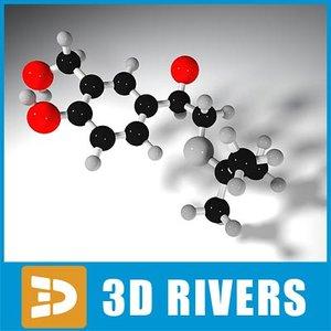 albuterol molecule structure 3d model