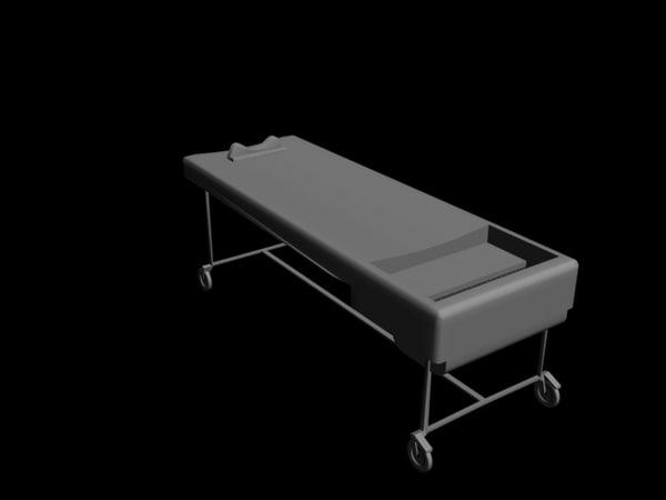 free autopsy table 3d model
