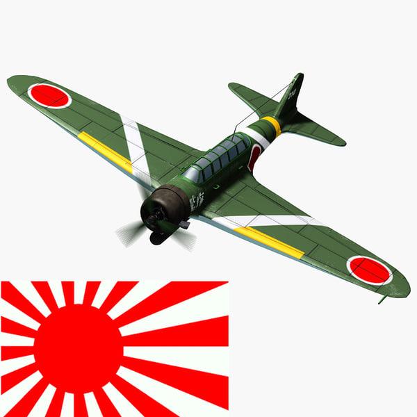 ww2 nakajima b5n torpedo 3d model