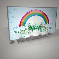 3d billboard board model