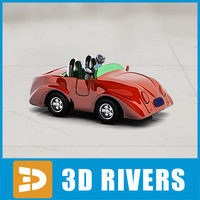 baby toy car 3d model