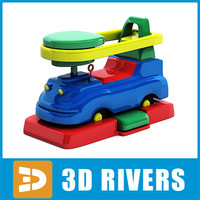 3d baby toy car