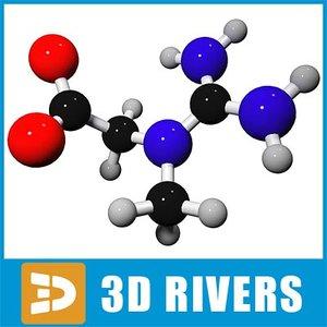3d max creatine molecule structure