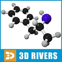maya dextroamphetamine molecule structure