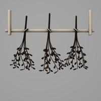 3d dry herbs model