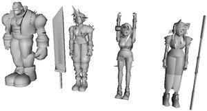 final fantasy hero 3d model