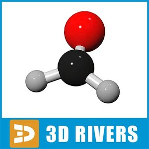 3d model formaldehyde molecule structure