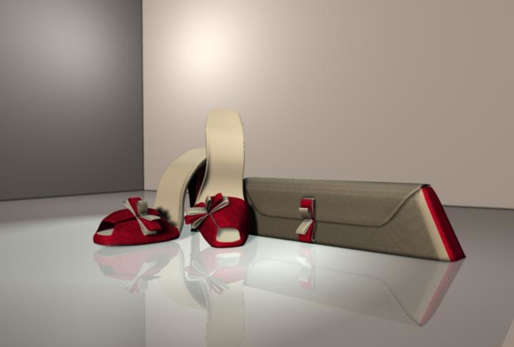 heels handbag 3d ma