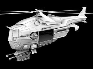 futuristic military helicopter ma