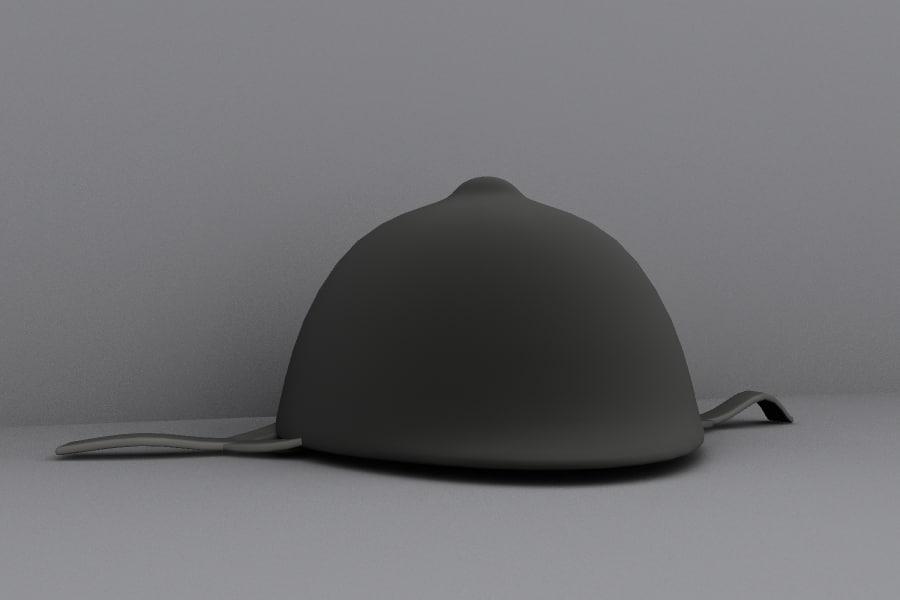 3d model horse riding helmet