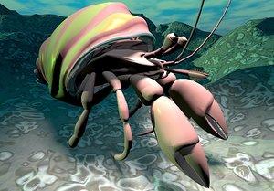 3dsmax hermit crab