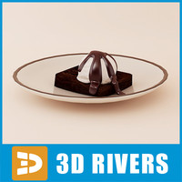 brownie ice cream 3d model