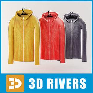leather jacket set 3d 3ds