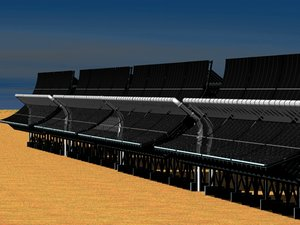 3d heliostat concentrating solar