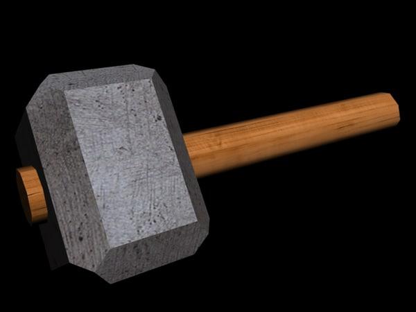 free smith hammer - 3d model