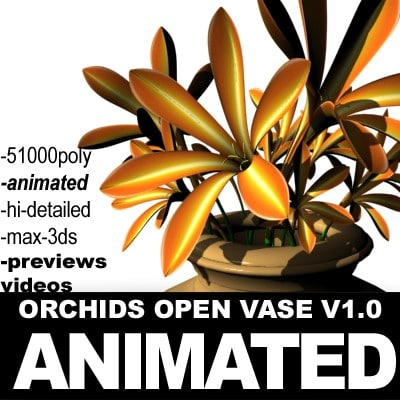 3ds max realistic flower animation open